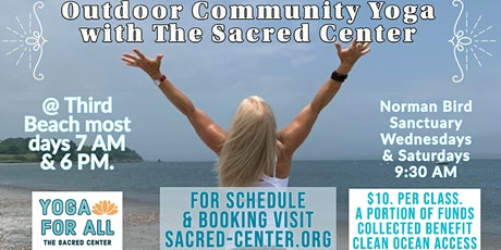 Community Yoga for All on Third Beach with Rev Shelley Dungan & staff 6 PM tickets