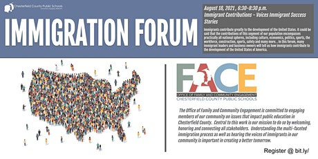 CCPS FACE Immigration Forum - - Immigrant Contributions - Voices Immigrant tickets