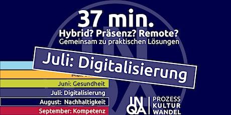 37Min / Digitalisierung konkret – KI wird Akteur in sozio-digitalen Teams Tickets