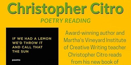 Christopher Citro Poetry Reading tickets