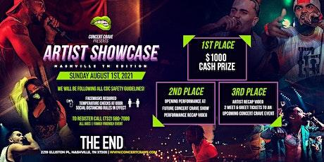 Concert Crave Artist Showcase - Nashville, TN 8.1.21 tickets