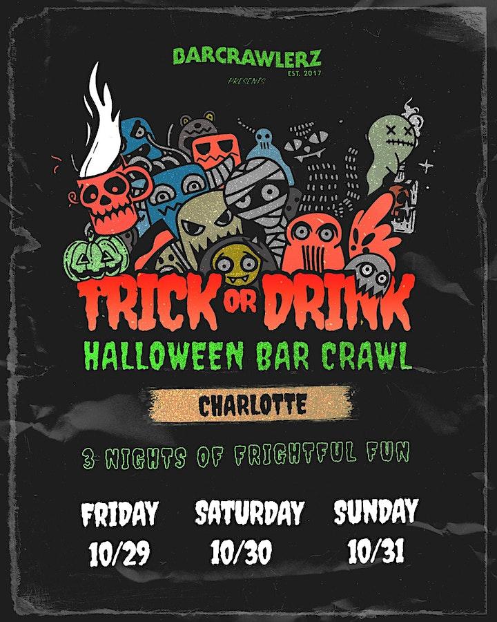 Trick or Drink: Charlotte Halloween Bar Crawl (3 Days) image