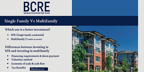 Investing in Real Estate: Single Family Residential Vs Multifamily tickets