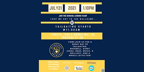 Schnabl Lending Team Appreciates YOU - Milwaukee Brewers vs KC Royals! tickets