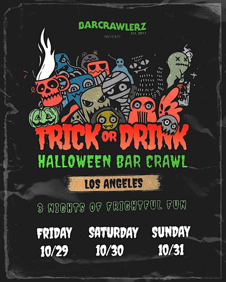 Trick or Drink: Los Angeles Halloween Bar Crawl (3 Days) image