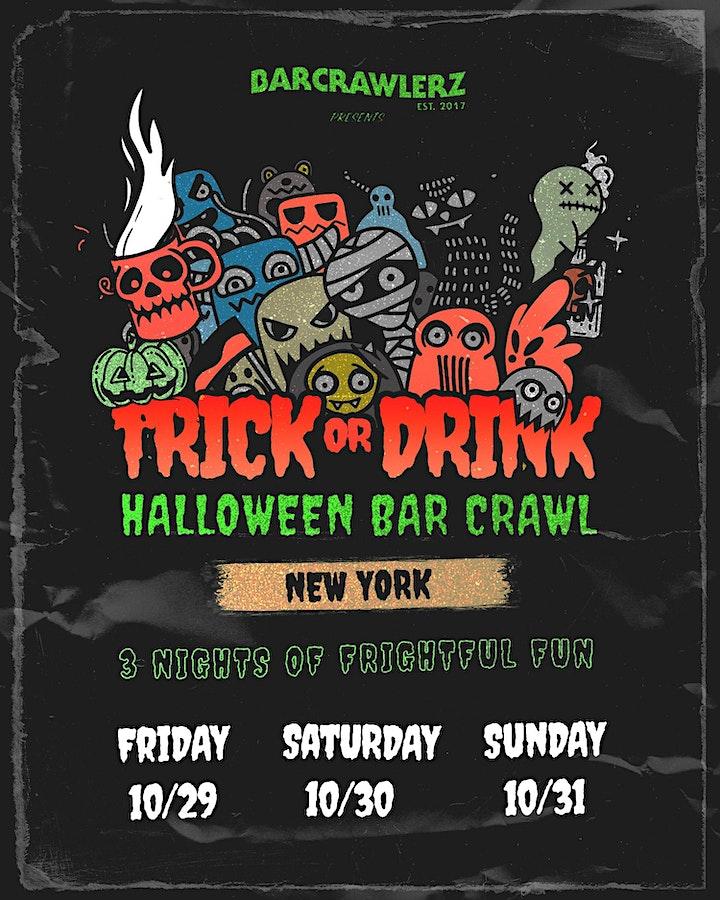 Trick or Drink: NYC Halloween Bar Crawl (3 Days) image