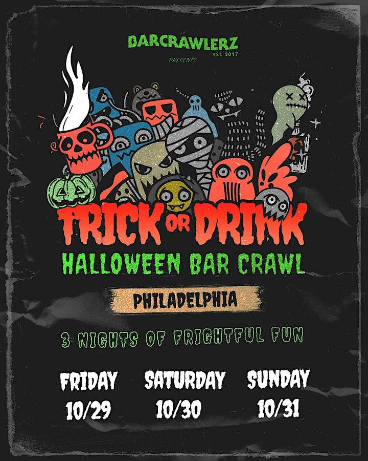 Trick or Drink: Philadelphia Halloween Bar Crawl (3 Days) image