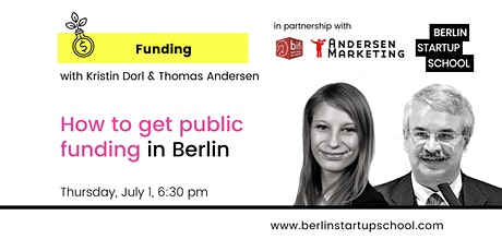 How to get public funding in Berlin with Kristin Dorl & Thomas Andersen tickets