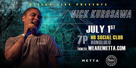Nick Kurosawa live at HB Social Club tickets