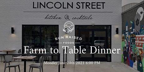 5 Course Farm To Table  Lamb Dinner at Lincoln Street Monday June 28th 2021 tickets
