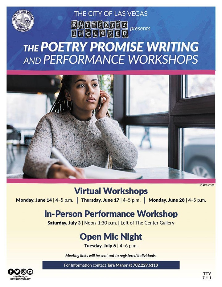 Batteries Included: Poetry Promise Writing and Performance Workshops image