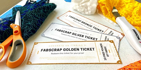 FABSCRAP Volunteer: Monday, July 26, PM Golden Ticket session tickets