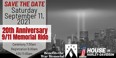 20th Anniversary 9/11 Memorial Ride tickets