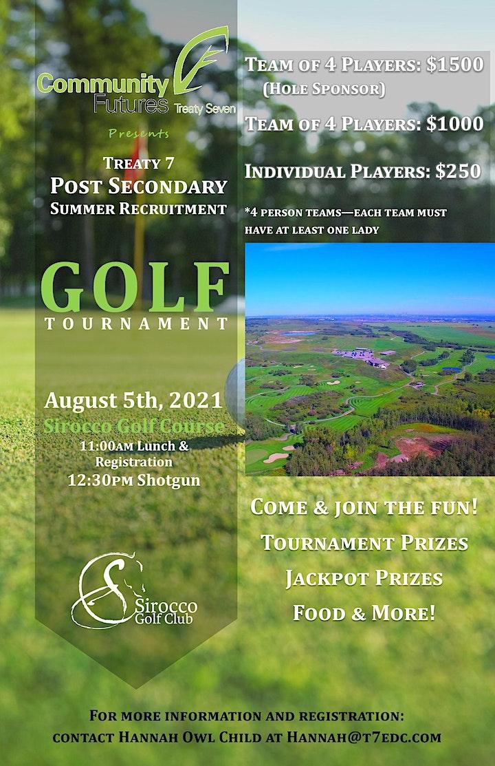 Treaty 7 Post Secondary Summer Recruitment Golf Tournament image