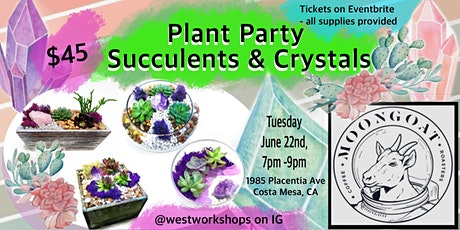 Succulents and Crystals Workshop at Moongoat Coffee tickets