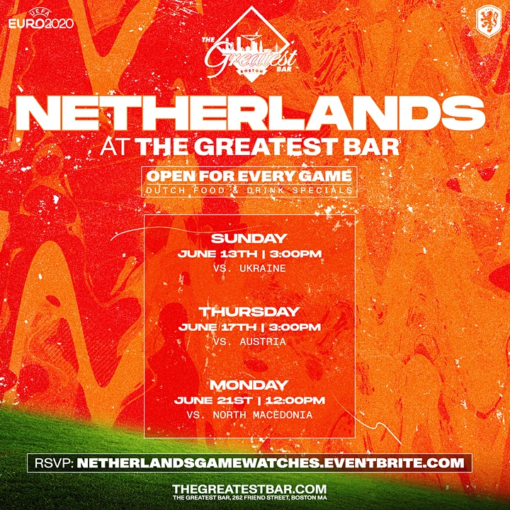 UEFA Euro 2020 Netherlands Game Watches at The Greatest Bar! image