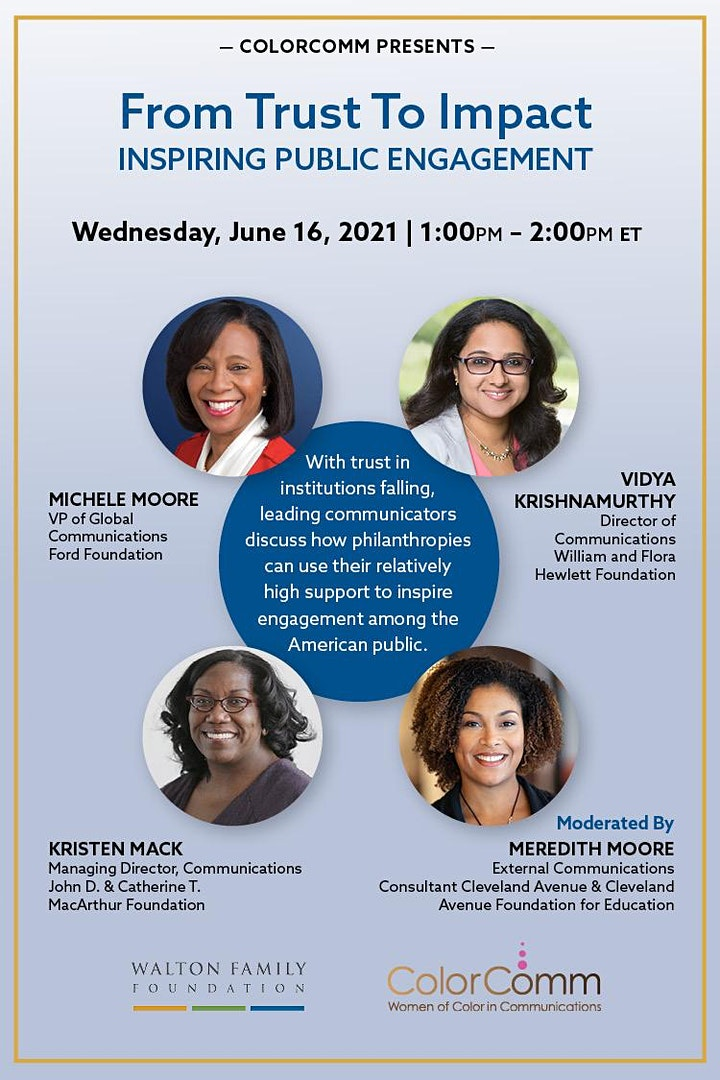 ColorComm x  Walton Family Foundation Present: From Trust to Impact image