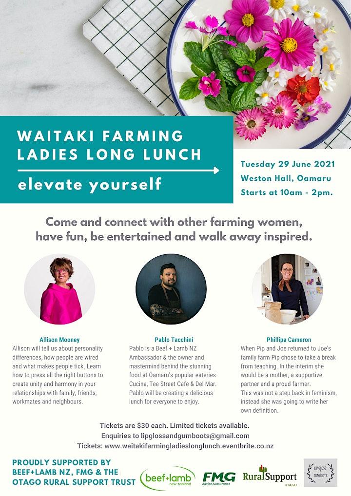 Waitaki Farming Ladies Long Lunch image