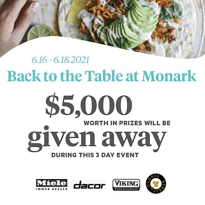 Back To The Table At Monark: (Day 2 - Live Cooking & VIP Reception) image