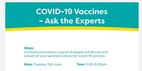 Covid -19 Vaccines Virtual Event to Answer Questions by Experts tickets