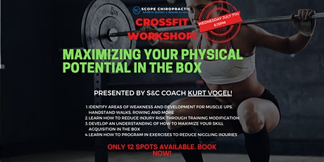 Maximizing Your Physical Potential In The Crossfit Box tickets