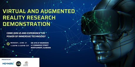 Virtual and Augmented Reality Research Demonstration tickets