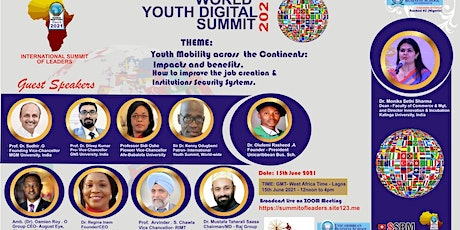 World Youth Summit  2021 - Youth Mobility across the Contients and Security tickets