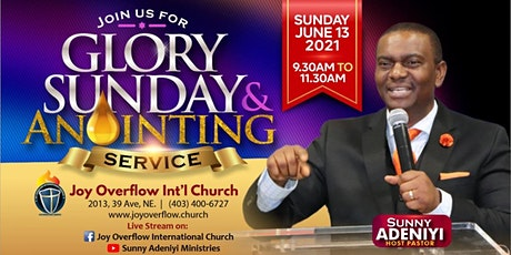 June  2021 Glory Sunday Anointing Service tickets