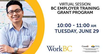 BC Employer Training Grant Program tickets