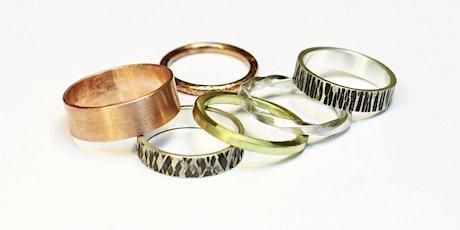 Ring Making Class - DIY Beginner Metalsmithing Jewelry Workshop tickets