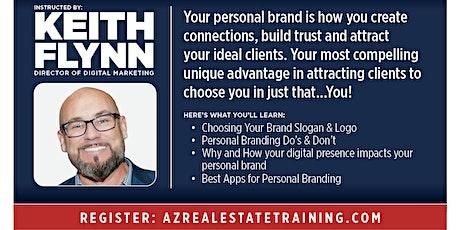 Personal Branding for Real Estate Professionals - Webinar w/ Keith Flynn biglietti