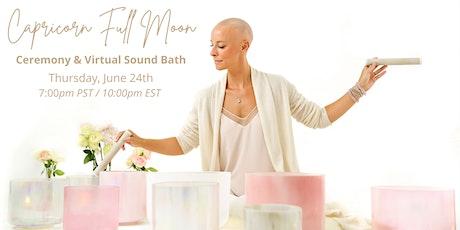 VIRTUAL  Capricorn Full Moon Sound Bath tickets