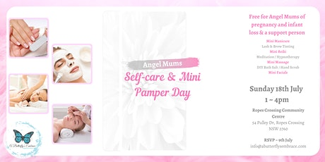 Angel Mums Self-care & Mini Pamper day tickets