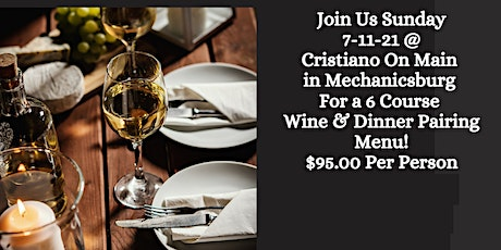 6 Course Wine and Food Pairing tickets