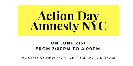 Amnesty New York Action Team- Virtual Action Day tickets