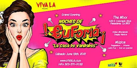 """Noches de Euforia - """"La Casa de las Vanidades"""" tickets"""