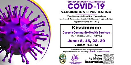 Kissimmee COVID-19 Vaccination  and Rapid PCR Testing Event tickets
