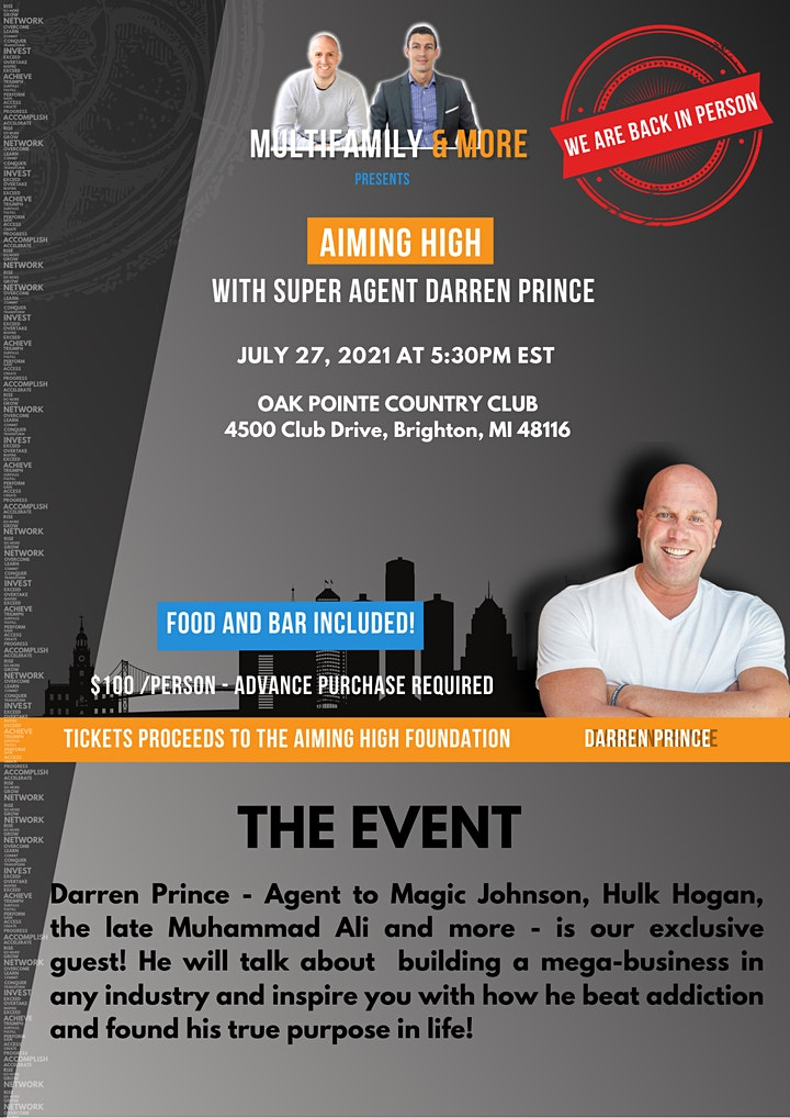 Aiming High - with super agent Darren Prince image