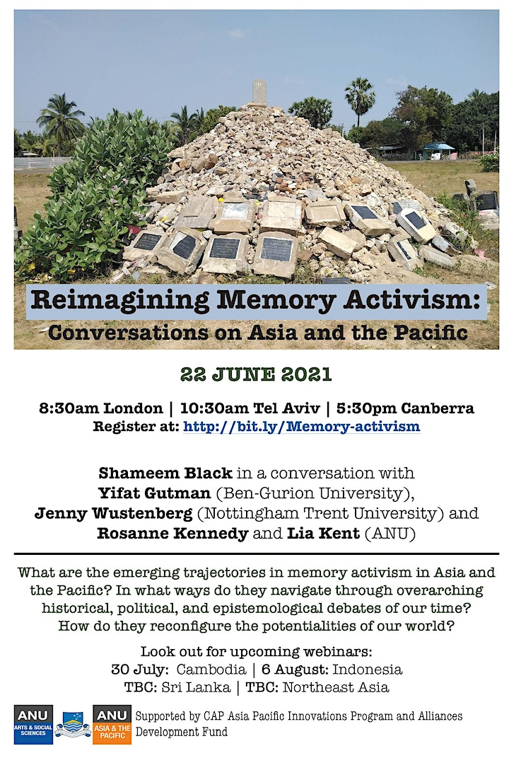 Reimagining Memory Activism: Conversations on Asia and the Pacific image
