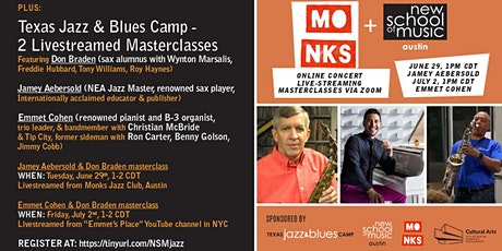 New School of Music and Texas Jazz & Blues Camp Summer Events tickets