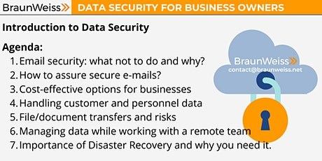 Introduction to Data Security for Business Owners tickets