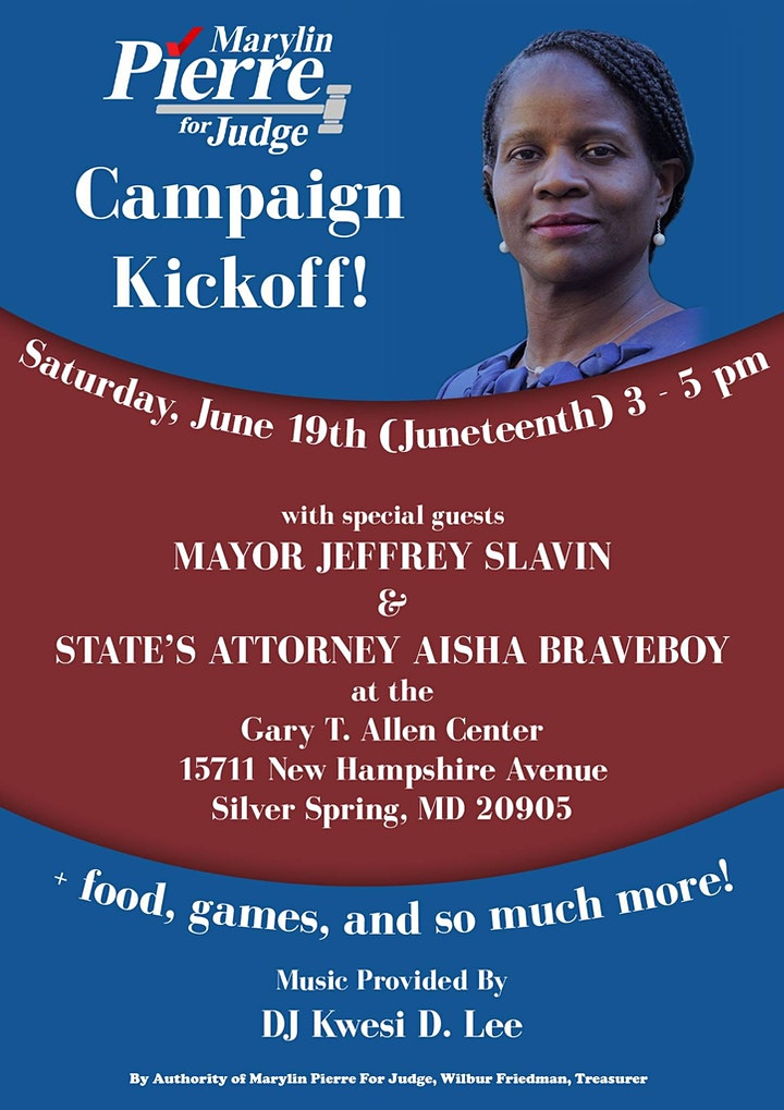 Marylin Pierre Campaign Kickoff image