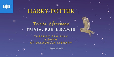 Holiday Activity: Harry Potter Trivia - Ulladulla Library tickets