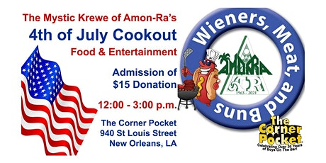 """Fourth of July Cookout """"Wieners, Meat, and Buns"""" tickets"""