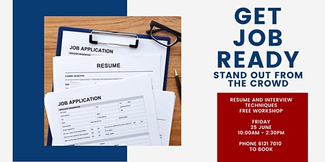 Get Job Ready workshop tickets