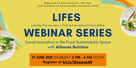 Social Innovation in the Food Sustainability Space with Altimate Nutrition tickets