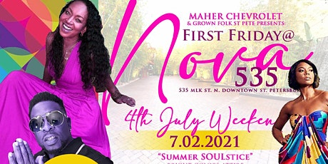 4th of July weekend First Friday  -  Summer SOULstice at Nova 535 tickets