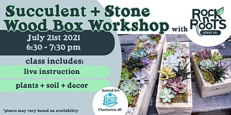 Succulent + Stone Wood Box Workshop at Palmetto Brewing Co. tickets