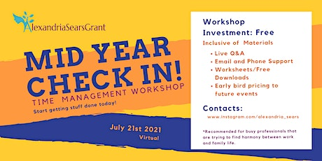 Mid Year Review of Goals  - Planning Workshop tickets