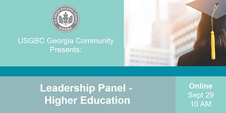 USGBC Georgia Presents: Leadership Panel - Higher Education tickets